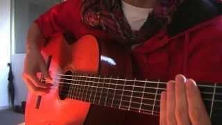 'Fingerstyle' Guitar Pattern for: Bolero Rhythm~