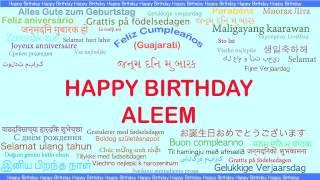 Aleem   Languages Idiomas - Happy Birthday