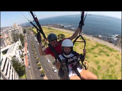 Para Taxi Tandem Paragliding Flight at Signal Hill - Cape Town.