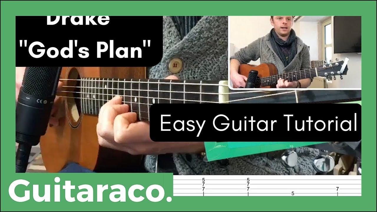 Gods Plan Drake Guitar Tutorial Two Chords Youtube