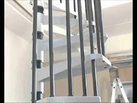 escalier colima on kit spiral metal youtube. Black Bedroom Furniture Sets. Home Design Ideas