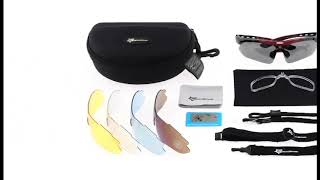 Óculos De Sol Esportivo Bike 5 Lentes Rockbros Proteção UV ... 2e34012744