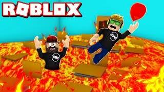THE FLOOR IST LAVA in ROBLOX / RED BALLOON SAVED ME!!!!