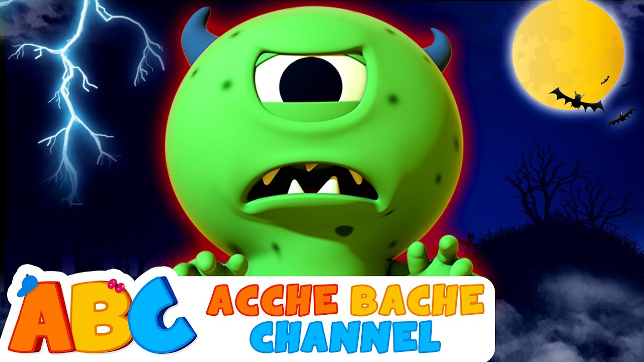 Zombie Had A Little Monster | Zombie का था एक छोटा मॉन्स्टर | Acche Bache Channel | Halloween Songs