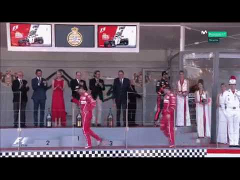 Vettel's victory dance - Monaco GP 2017