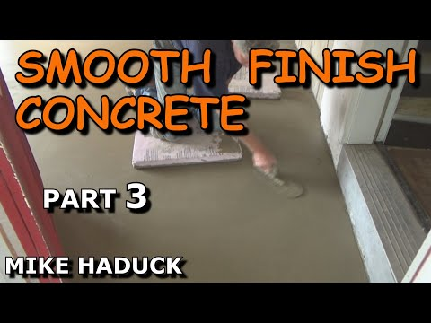 How I smooth finish concrete (part 3 of 4) Mike Haduck