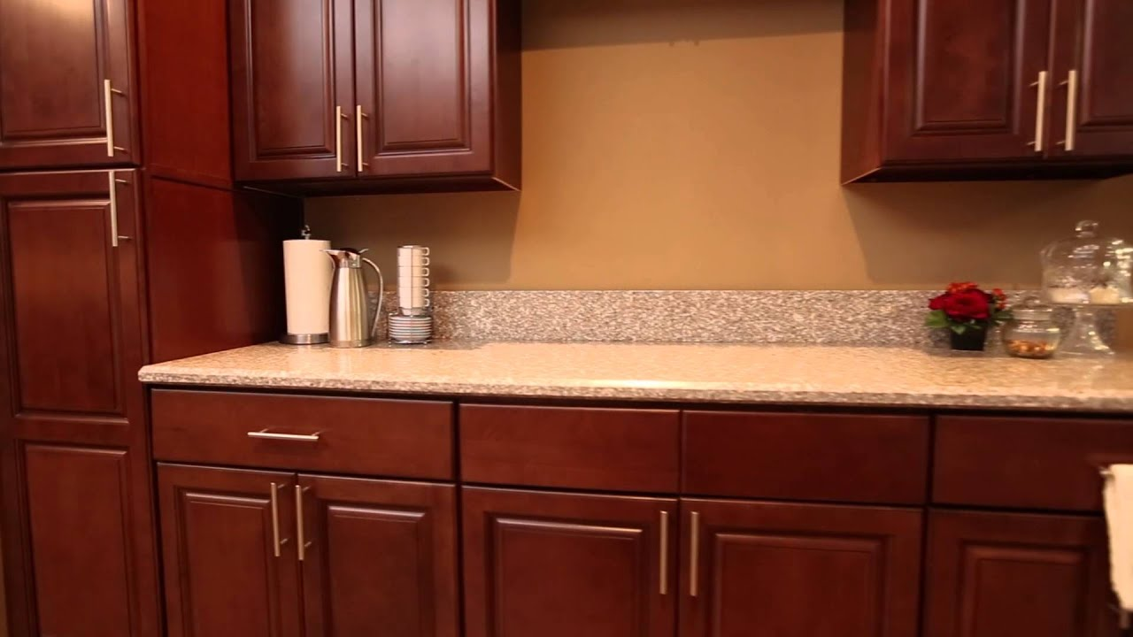 Kingston Brown Kitchen Cabinets | Discount Kitchen Cabinets Los Angeles |  Summit Cabinets   YouTube