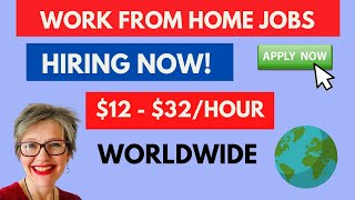 $12 - $32 HOURLY Work From Home Jobs 2020