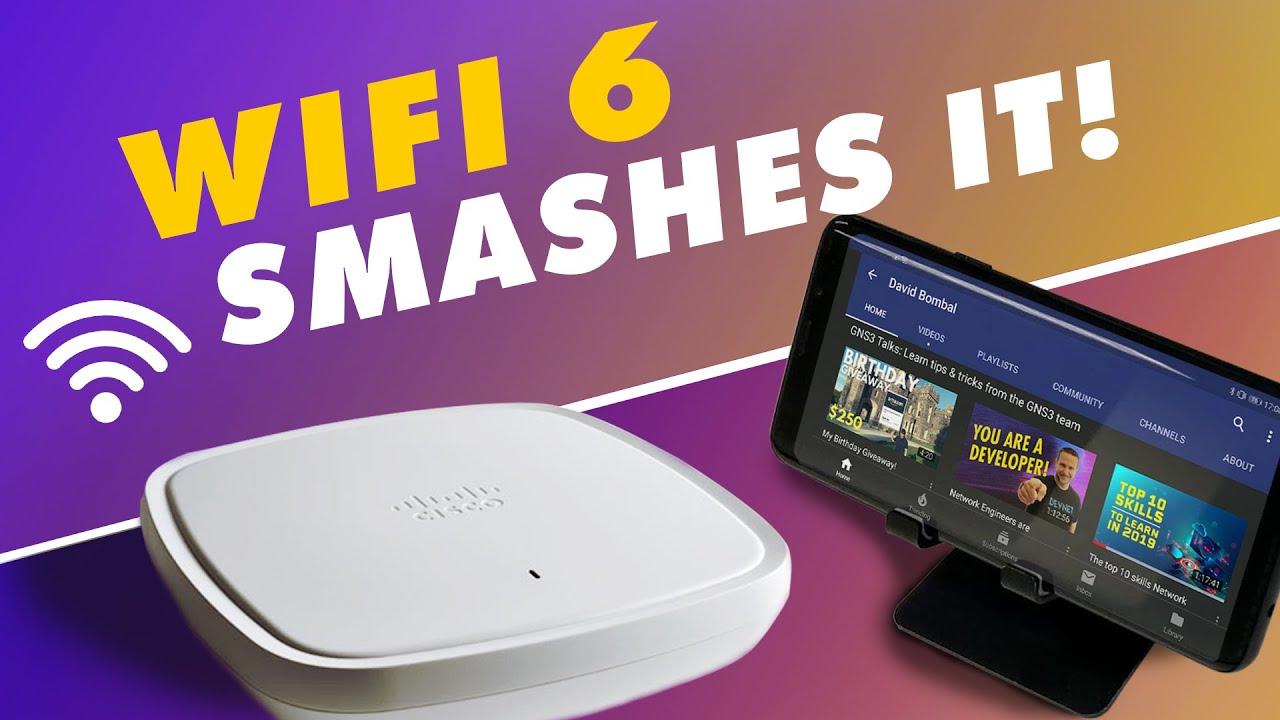 Wi-Fi 6 Demo: Samsung S10 and Cisco AP: 802 11ax / wifi 6 smashes it!