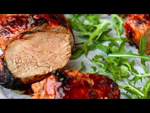 Sweet & Spicy BBQ Grilled Pork Tenderloin