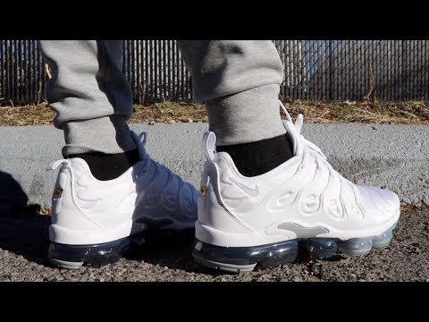 On Feet Nike Air Vapormax Plus Pure Platinum