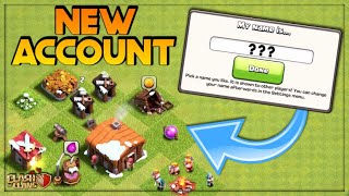 STARTING A BRAND NEW ACCOUNT!  TOWN HALL 1 LET'S PLAY