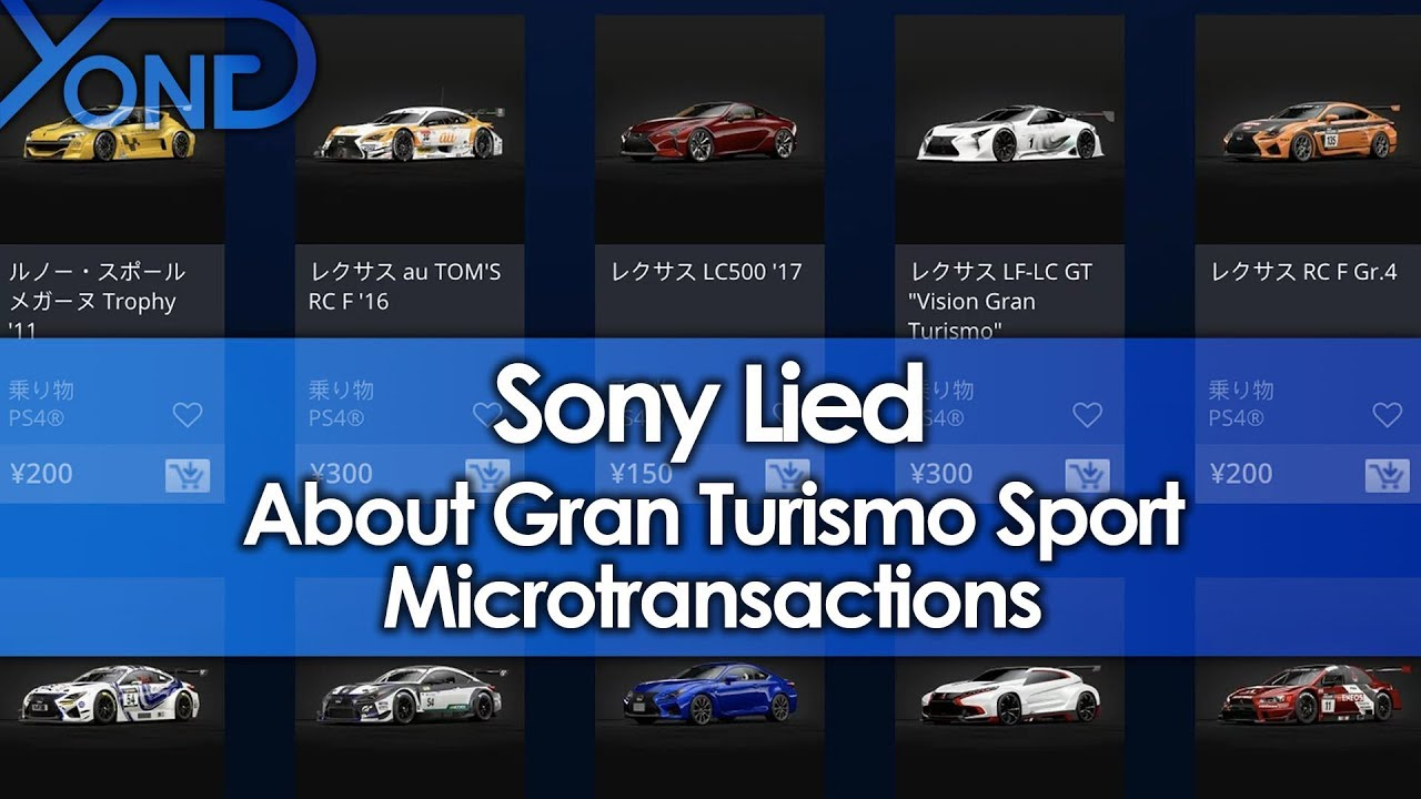 Sony Adds Microtransactions to Gran Turismo Sport After Producer Said They Wouldn't