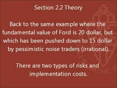Limits to Arbitrage