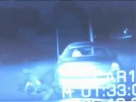 Alien Attacks Police Officer Caught On Dash Cam