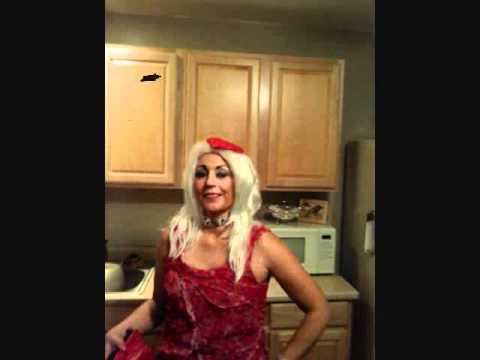 Lady Gaga Halloween Meat Dress Costume