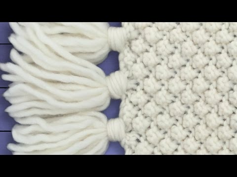 How to Loom Knit a Cowl / Scarf in a kind of Honeycomb Stitch (DIY Tutorial) ...