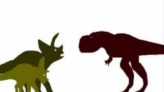 PsycoSpot Battles:Tyrannosaurus Vs Triceratops Remake(New Sounds)