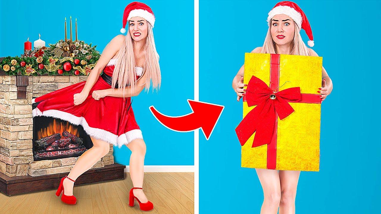 Если бы Санта был девушкой! / 15 смешных новогодних ситуаций