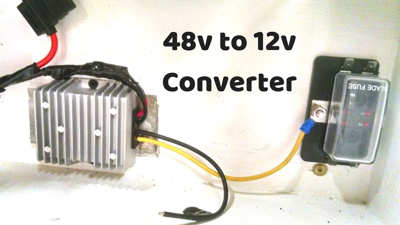 making 12 volts from my 48 volt battery diy powerwall [ 1280 x 720 Pixel ]