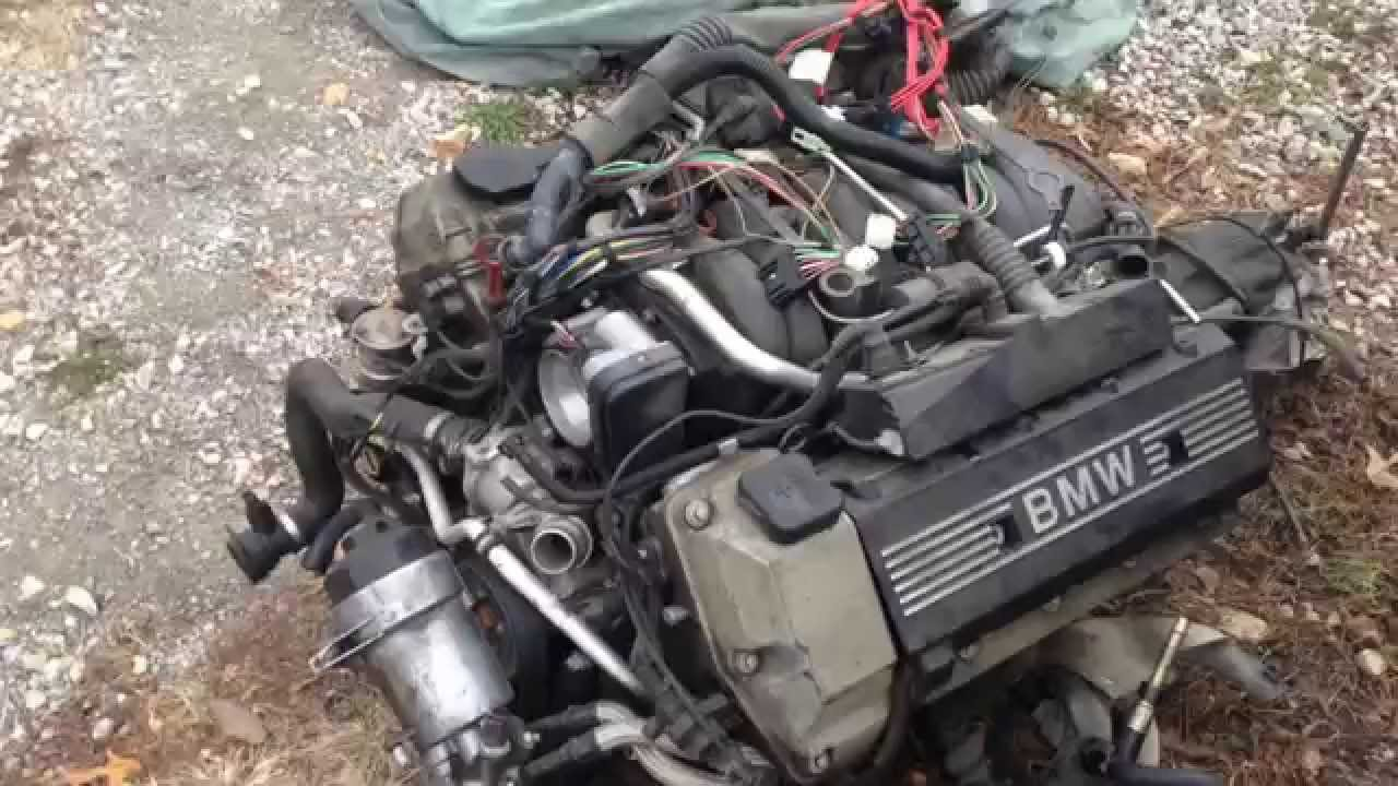 BMW 540i6 M62 M62tu 44l v8 Engine removal from a e39