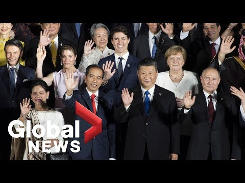 G20 Summit: World leaders pose for 'family photo' in Osaka