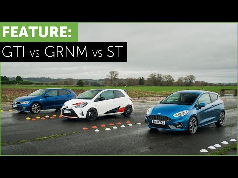 Drag Race and Road Test - VW Polo GTI - Toyota Yaris GRMN - Ford Fiesta ST