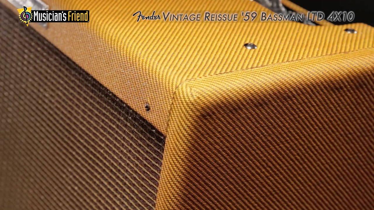 Fender 4x10 Guitar Cabinet Fender Vintage Reissue 59 Bassman Ltd 4x10 Guitar Combo Amp Youtube