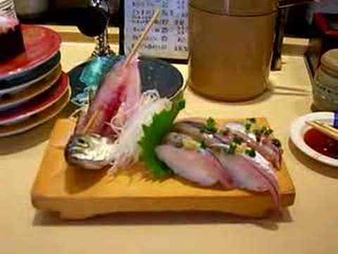 Sushi made from live fish youtube for Best fish for sushi