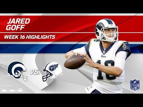 Jared Goff Highlights | Rams vs. Titans | NFL Wk 16 Player Highlights