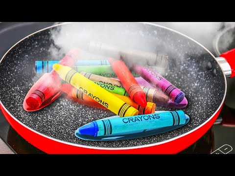 AMAZING RECIPES WITH CRAYONS TO DECORATE YOUR HOME