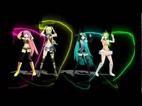 MMD Bad apple! Luka Lily Miku Gumi