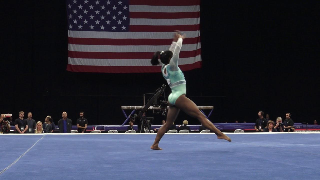 Simone Biles Floor Exercise 2018 U S Gymnastics Championships Senior Women Day 2