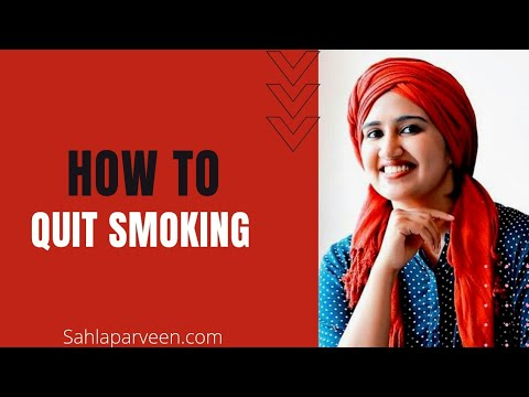 How to quit smoking? - by Sahla Parveen