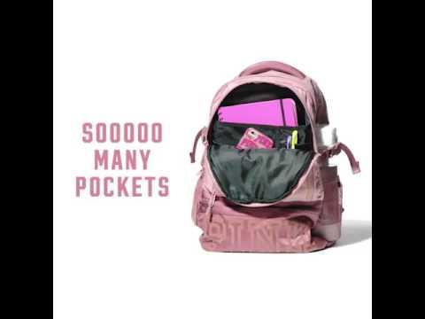 ab87818ab1 Pink collegiate bookbag ❤ - YouTube