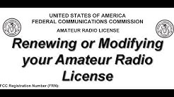 Renewing or Modifying your Amateur Radio License