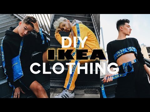WE MADE CLOTHING FROM IKEA BAGS With James Charles + Ian Jeffrey