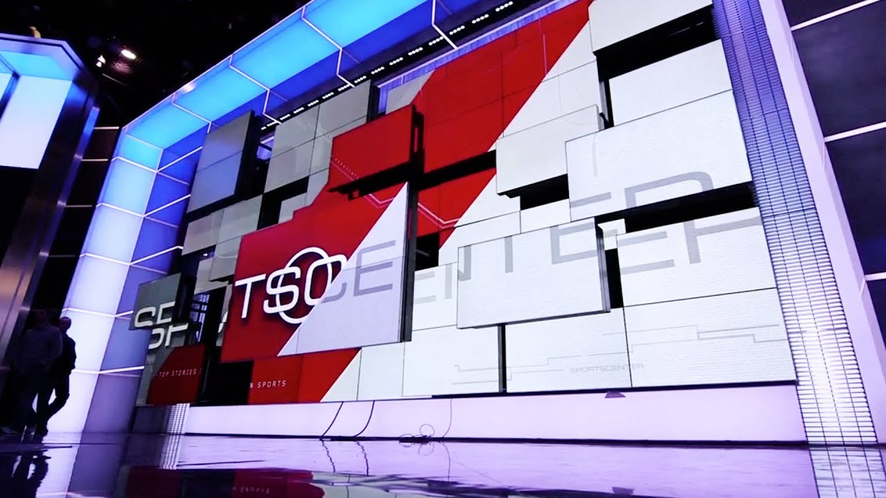 An Exclusive Look Inside Espn S Cutting Edge New Sportscenter Studio Youtube