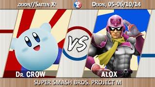 [.dijon//Saiten Xe] W½F - Dr. Crow (Kirby) Vs. Alox (C.Falcon) - Project M