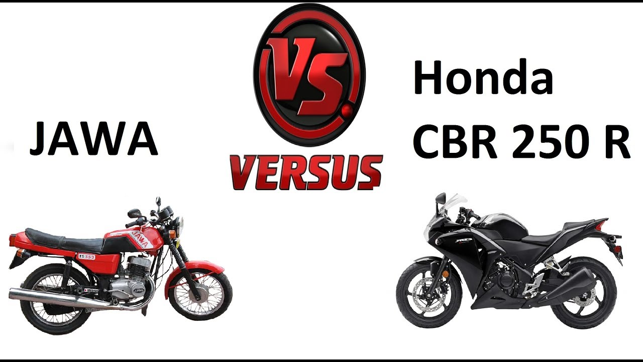 Мотоцикл Ява против Хонда CBR 250 R (JAWA VS Honda CBR 250 R)