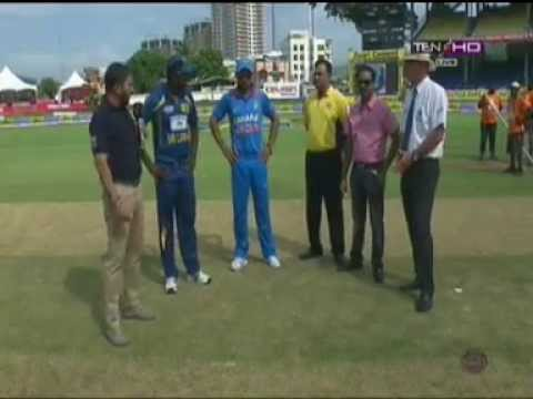 India Vs Sri Lanka Toss Match 6 of Tri Series 2013 Travel Video