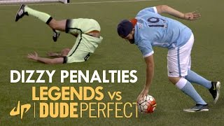 DIZZY PENALTIES | Manchester City Legends v Dude Perfect