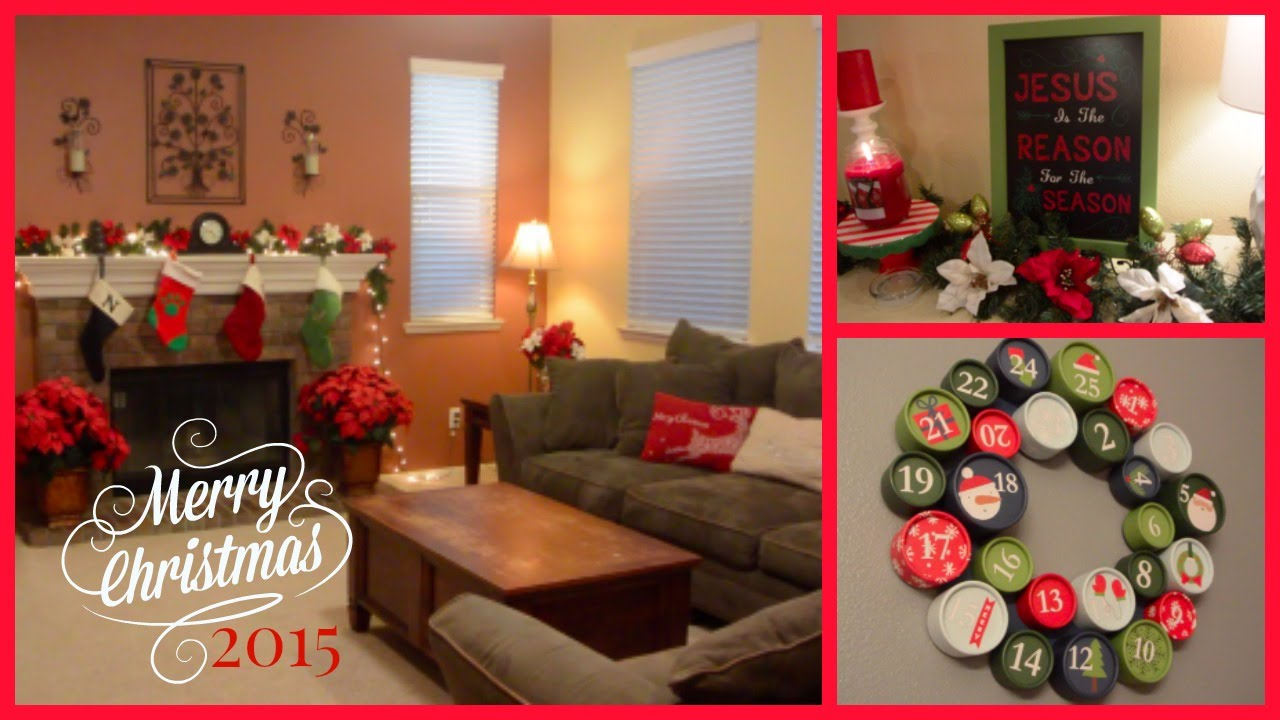 2015 christmas home decor tour youtube for Home decorations 2015