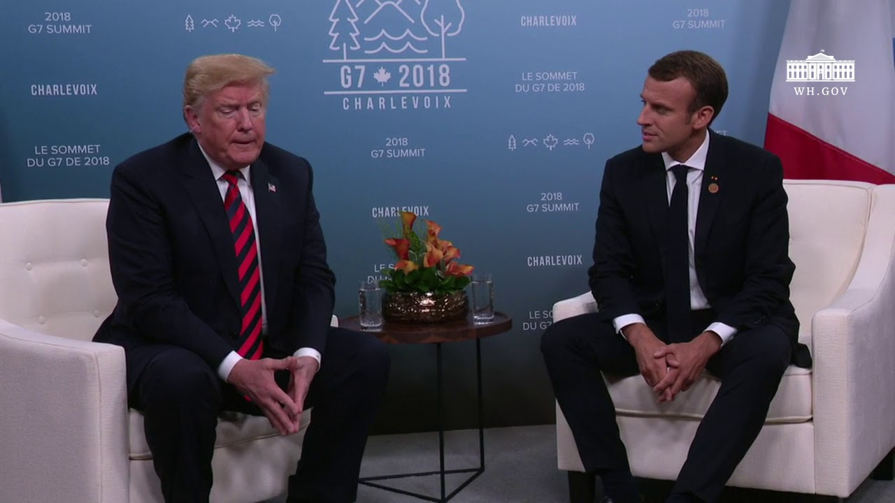 President Trump Participates in a Bilateral Meeting with the President of the French Republic