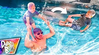 connectYoutube - He's Learning NEW Swimming Pool Tricks!