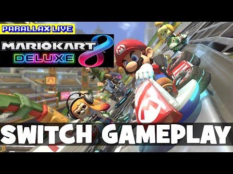 Mario Kart 8 Deluxe Gameplay (Nintendo Switch, Inkling Boy, Bowser Jr)