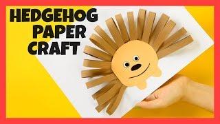 Hedgehog Paper Craft - fun Fall craft for kids