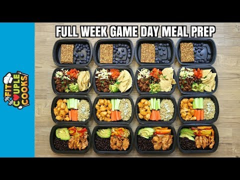 GAME DAY  FULL WEEK MEAL PREP  How to Meal Prep  Ep. 74