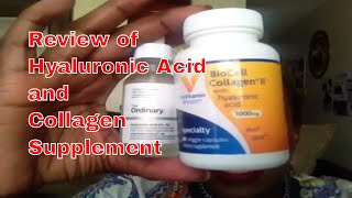 REVIEW of Hyaluronic  Acid and Collagen Supplement