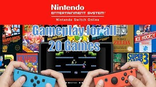 Nintendo Switch Online NES Games Trailer-All 20 Games Shown